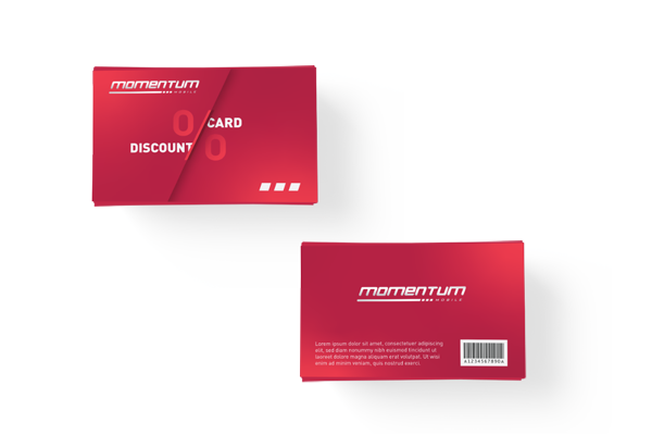 Momentum-Discount-Card
